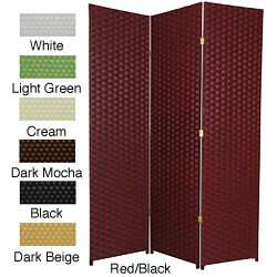Handmade Woven Fiber 6-foot 4-panel Frameless Room Divider (China) - 71 x 68 (Option: Cream)