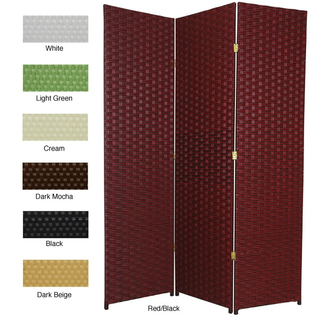 Handmade Woven Fiber 5-panel 6-foot Frameless Room Divider (China)