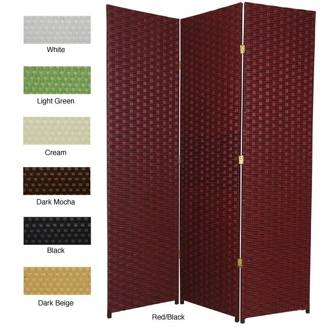 Handmade Woven Fiber 5-panel 6-foot Frameless Room Divide...