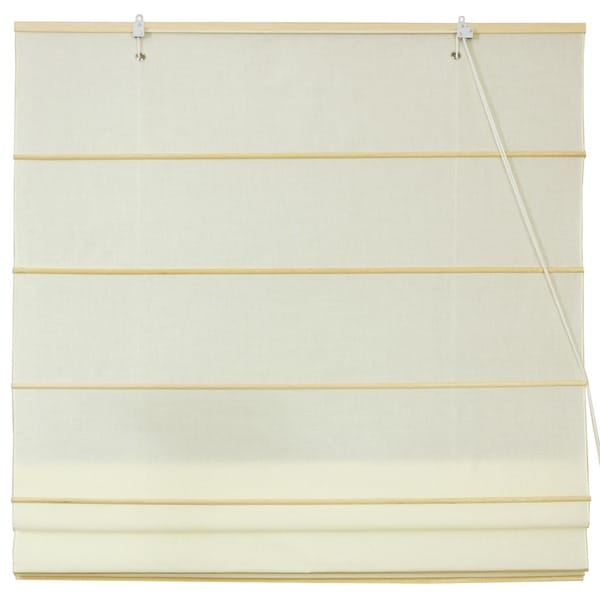 Handmade Chinese Artisan 24-inch-wide Easy-hang Cotton Roman Shades (China)