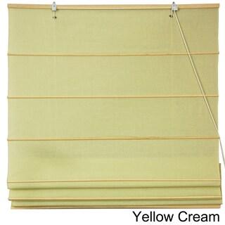 Handmade Chinese Artisan 24-inch-wide Easy-hang Cotton Roman Shades (China)