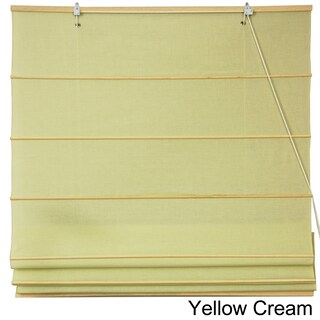 Handmade Cotton 48-inch-wide Roman Shades (China) - 48 x 72
