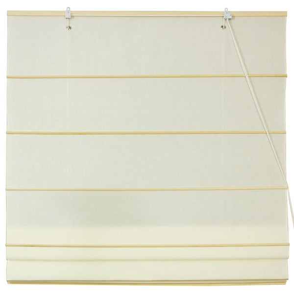 Artisanal Cotton 72-inch Hand-crafted Roman Shades (China)