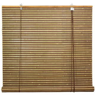 Handmade Burnt Bamboo 24-inch Roll-up Window Shade (China)