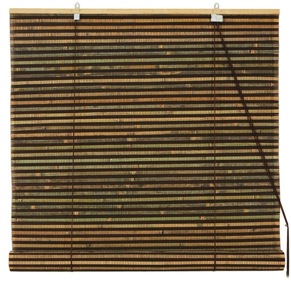 Burnt Bamboo 36-inch Roll-up Window Shade (China)