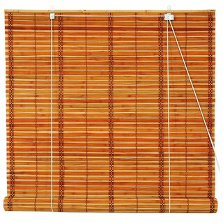 Handmade Burnt Bamboo 36-inch Roll-up Window Shade (China) - 36 X 72