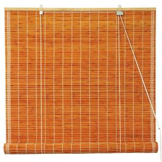 Handmade Burnt Bamboo 36-inch Roll-up Window Shade (China) - 36 X 72