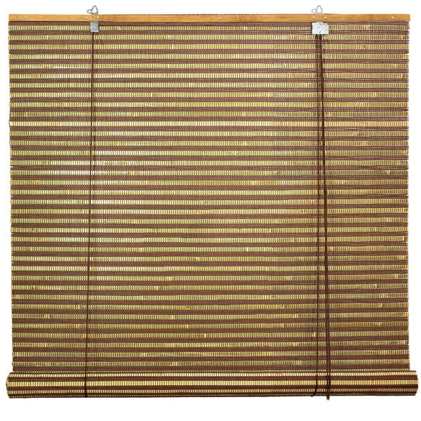 Handmade Burnt Bamboo 48-inch Roll-up Window Shade (China)