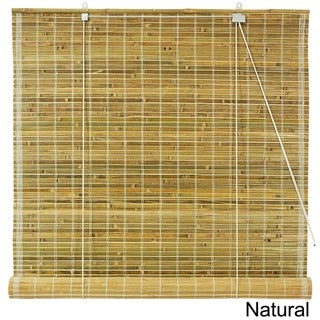Burnt Bamboo 48-inch Roll-up Window Shade (China)