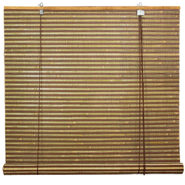 Handmade Burnt Bamboo 60-inch Roll-up Window Shade (China)