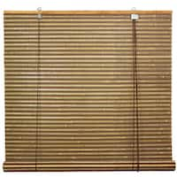 Handmade Burnt Bamboo 60-inch Roll-up Window Shade (China) - 60 x 60