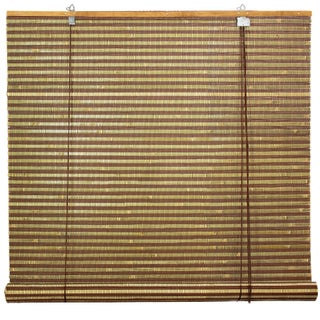 Handmade Burnt Bamboo 72-inch Roll-up Window Shade (China) (Option: Multi)