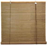 Handmade Burnt Bamboo 72-inch Roll-up Window Shade (China)