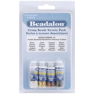 Beadalon Crimp Beads Variety Pack (Case of 600)