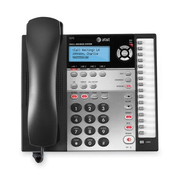 AT&T 1070 4-Line Expandable Corded Small Business Telephone with Call