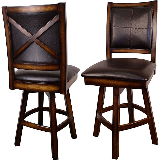 Shop X Back Swivel Counter Stools Set Of 2 Free