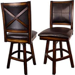 Super X Back Swivel Counter Stools Set Of 2 Overstock Com Shopping The Best Deals On Bar Stools Ibusinesslaw Wood Chair Design Ideas Ibusinesslaworg