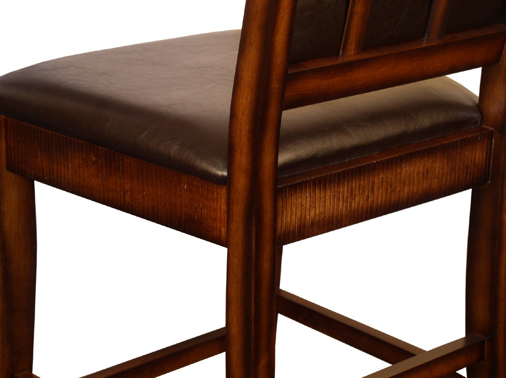 Rustic Oak Counter-height Chairs (Set of 2) - Thumbnail 1