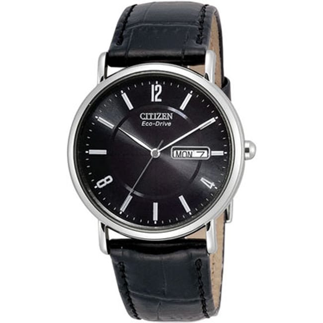 Citizen Men's BM8240-03E Eco-Drive Black Leather Strap Watch