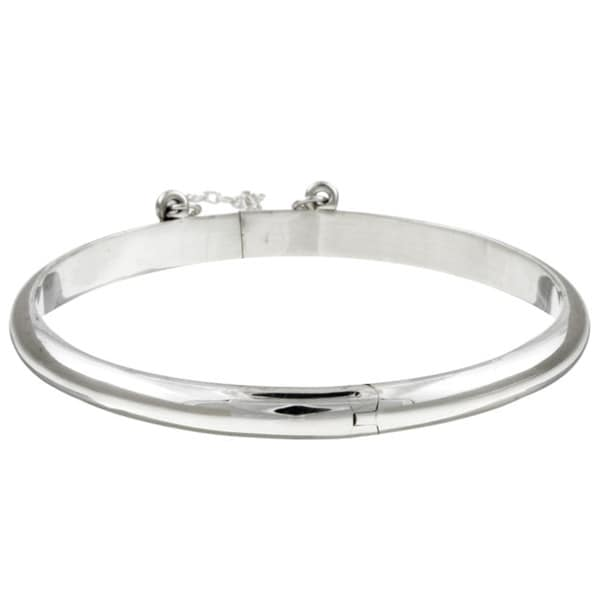 Sterling Essentials Silver 6 Inch Bangle Bracelet