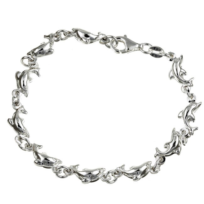 Fine Anklets Jewelry & Watches Diamond-cut Circles Anklet In Sterling Silver Fine Workmanship