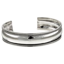 Sterling Silver 7-inch Antique Finish Cuff Bracelet