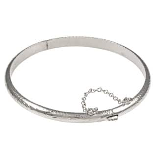 Sterling Essentials Silver 7-inch Hand-engraved Bangle Bracelet (5mm) (Option: Gold Plate)|https://ak1.ostkcdn.com/images/products/3950753/P11986877.jpg?impolicy=medium