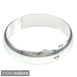 Sterling Essentials Silver 7-inch Polished Bangle Bracelet (15mm)