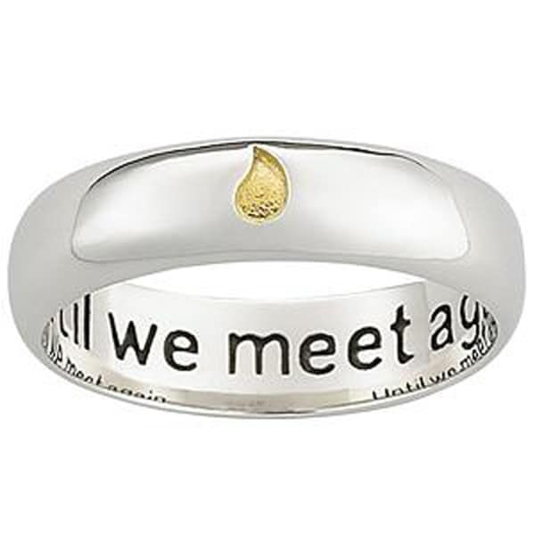 Polished Sterling Silver Memorial Sentiment Ring with Inscription