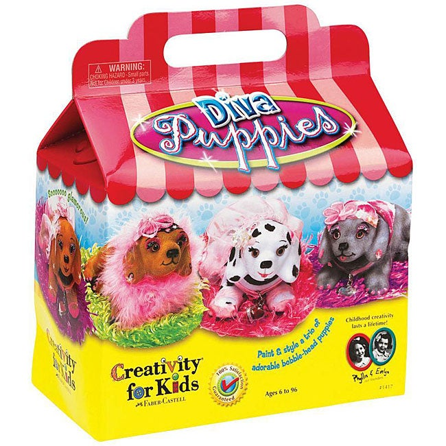 Diva Puppies Kids' Crafting Activity Kit with Ribbons/Bows/Feathers