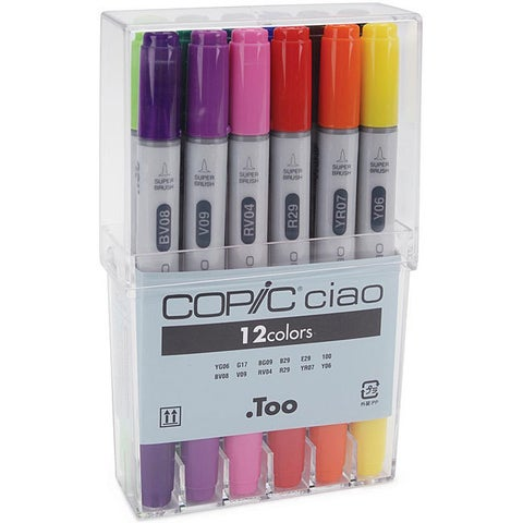 Copic Ciao 12 Basic Colors Marker Set