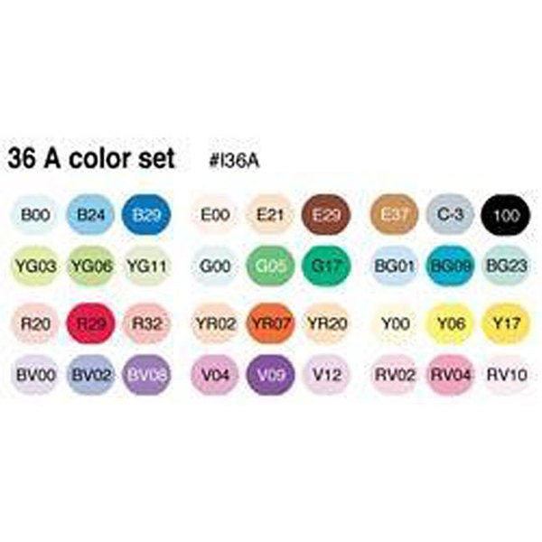 Copic Ciao Markers (Set of 36)
