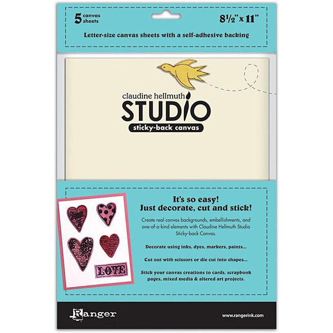 RangerInk Claudine Hellmuth Studio Sticky Back Canvas (Pack of 5)