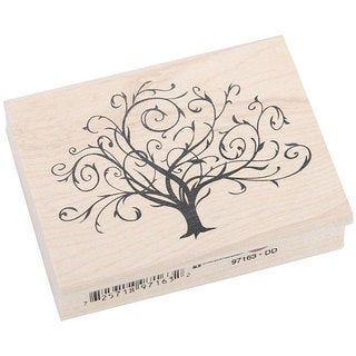 Inkadinkado 'Flourished Fall Tree' Rubber Stamp