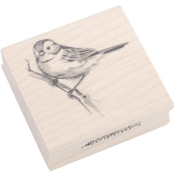 Inkadinkado Rubber/ Wood Sparrow Stamp