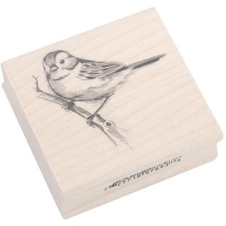 Inkadinkado Rubber/ Wood Sparrow Stamp