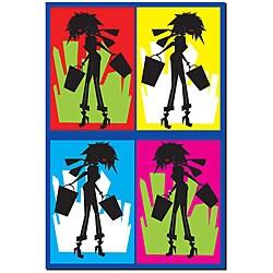 Grace Riley 'Shopaholic' Gallery-wrapped Framed Art