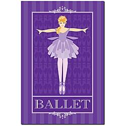 Grace Riley 'Ballet in Blue I' Framed Canvas Art