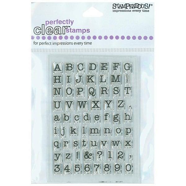 Stampendous 'Typewriter Alphabet' Clear Stamps