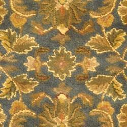 Safavieh Handmade Exquisite Blue/ Gold Wool Rug (7'6 x 9'6 Oval)