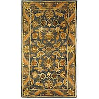 "Safavieh Handmade Exquisite Blue/ Gold Wool Runner Rug - 2'3"" x 4'"