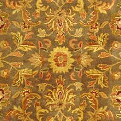 Safavieh Handmade Antiquities Kerman Charcoal Green Wool Rug (5' x 8') - Thumbnail 2