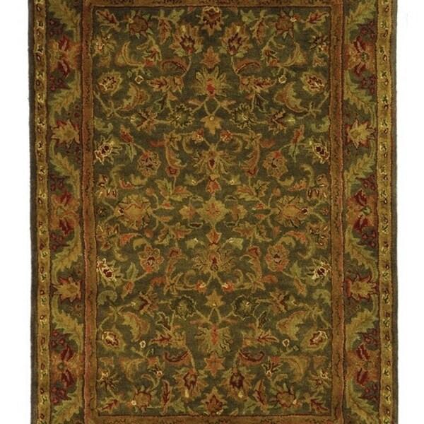 Safavieh Handmade Antiquities Kerman Charcoal Green Wool Rug - 5' x 8'
