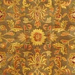 Safavieh Handmade Antiquities Kerman Charcoal Green Wool Rug (8'3 x 11') - Thumbnail 2