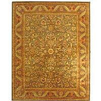 Safavieh Handmade Antiquities Kerman Charcoal Green Wool Rug - 8'3 x 11'