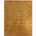 Safavieh Handmade Antiquities Kerman Charcoal Green Wool Rug (9'6 x 13'6)