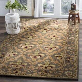 Safavieh Handmade Kerman Sage/ Gold Wool Rug (3' x 5')