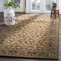 Safavieh Handmade Kerman Sage/ Gold Wool Rug - 3' x 5'