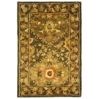 Safavieh Handmade Tabriz Olive Wool Rug - 2' X 3'