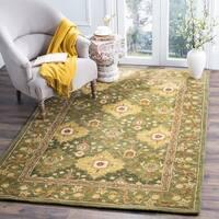 Safavieh Handmade Tabriz Olive Wool Rug - 4' x 6'